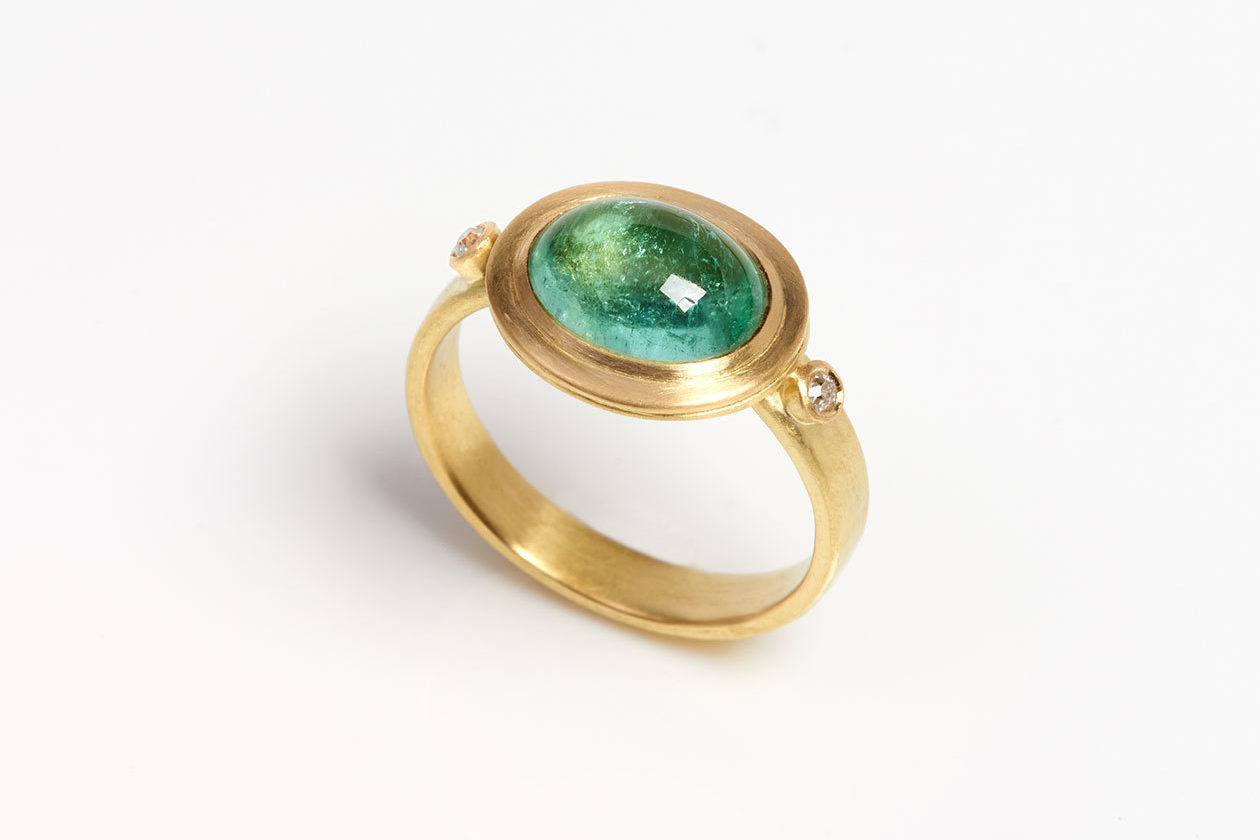 The Garnered - Jean Scott Moncrieff Gold Tourmaline Ring The Garnered Journal