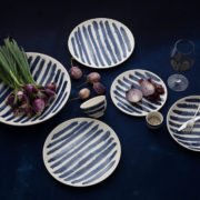 1882 Ltd x Faye Toogood Indigo Rain Cereal Bowls - 1882 Indigo Rain Group Shot The Garnered Lifestyle 2