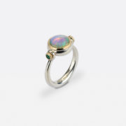 One-of-a-Kind Opal Pivot Ring - Abby Mosseri Opal Emerald Ring The Garnered