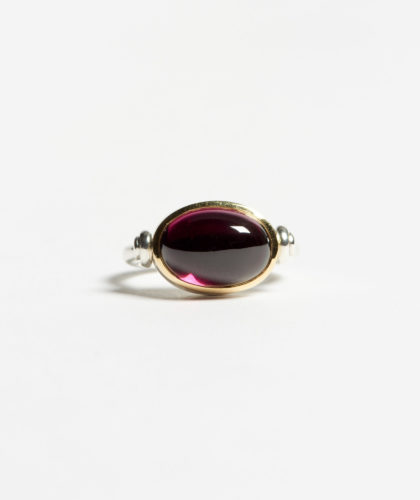 The Garnered - Garnet Swivel Ring Abby Mosseri Jewellery The Garnered 27