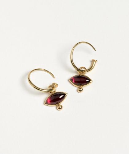 The Garnered - Lens Garnet Earrrings Abby Mosseri Jewellery The Garnered 2