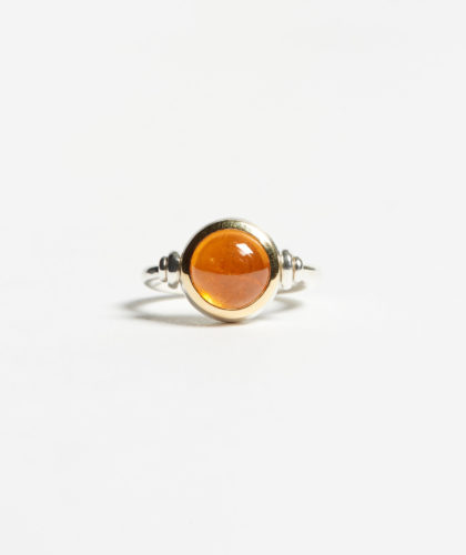 The Garnered - Mandarin Swivel Ring Abby Mosseri Jewellery The Garnered 23