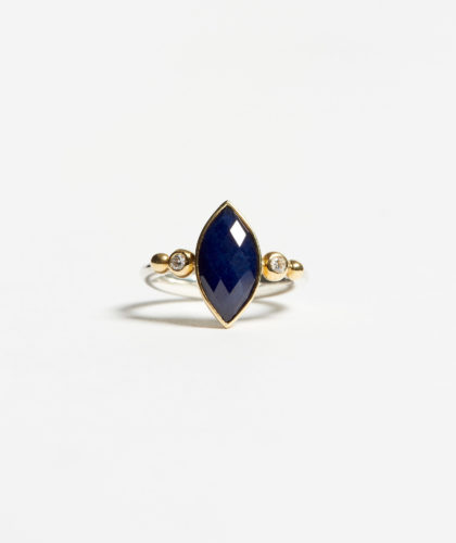 The Garnered - Marquise Sapphire Ring Abby Mosseri Jewellery The Garnered 32
