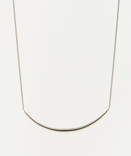 The Garnered - Oblique Crescent Silver Necklace Abby Mosseri Jewellery The Garnered 64