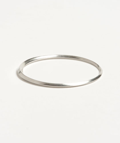 The Garnered - Oblique Silver Bangle Abby Mosseri Jewellery The Garnered 67