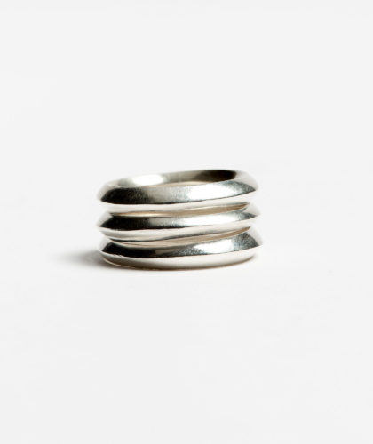 The Garnered - Oblique Silver Stacking Rings Abby Mosseri Jewellery The Garnered 48