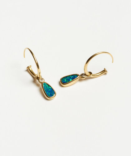 The Garnered - Opal Diamond Earrrings Abby Mosseri Jewellery The Garnered 12