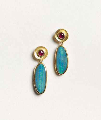 The Garnered - Ruby Opal Earrings Abby Mosseri Jewellery The Garnered 5