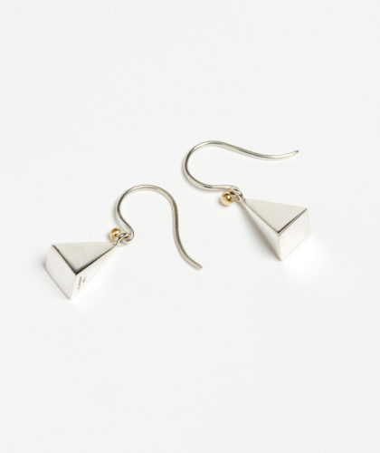 The Garnered - Silver Pyramid Earrings Abby Mosseri Jewellery The Garnered 2