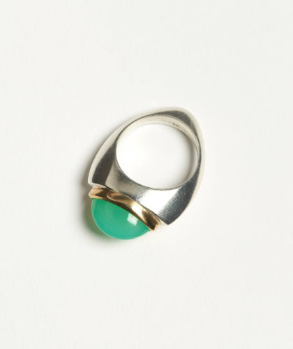 The Garnered - Talisman Ring Chrysoprase Abby Mosseri Jewellery The Garnered 39