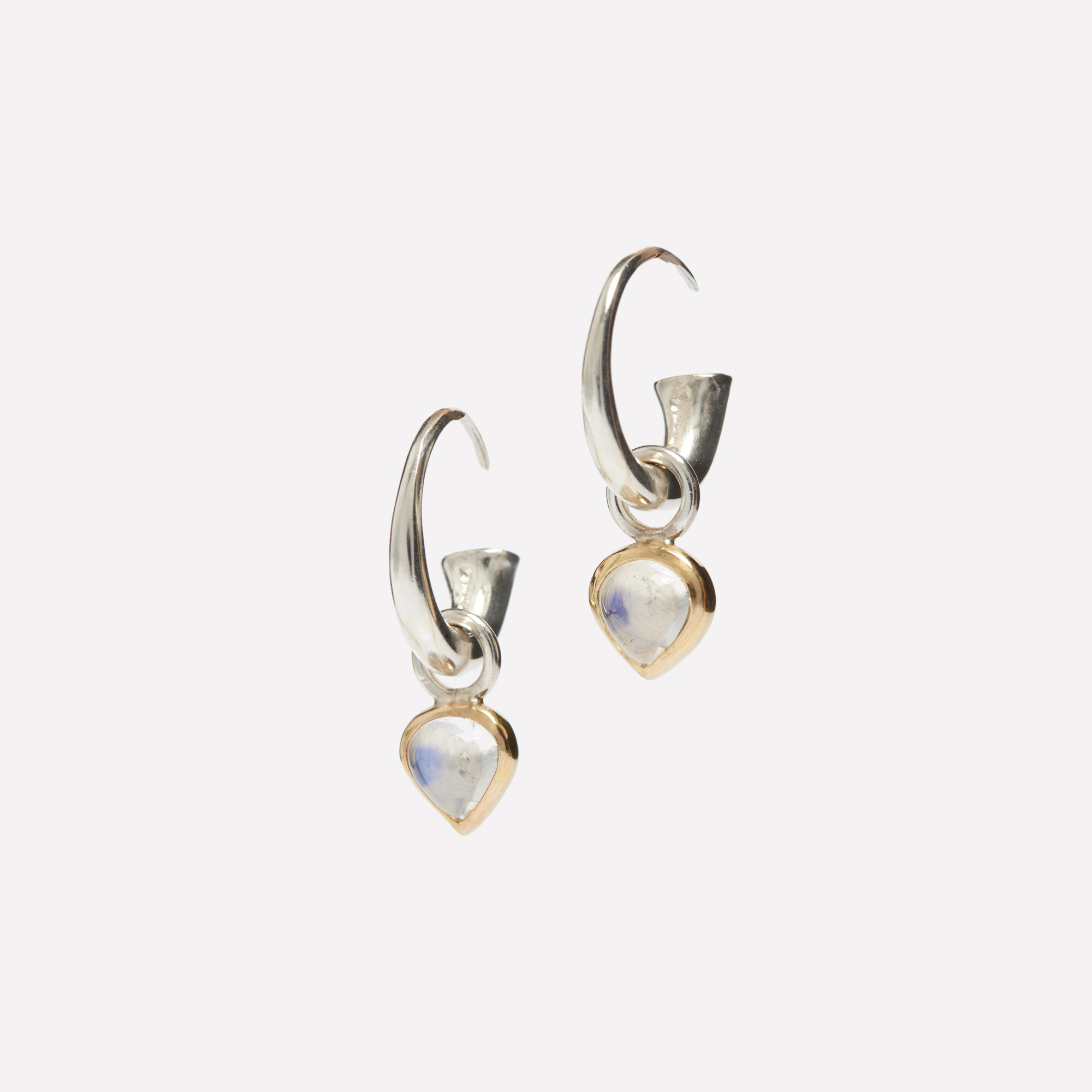Completely new Moonstone Hoop Earrings | The Garnered | The Garnered XF49