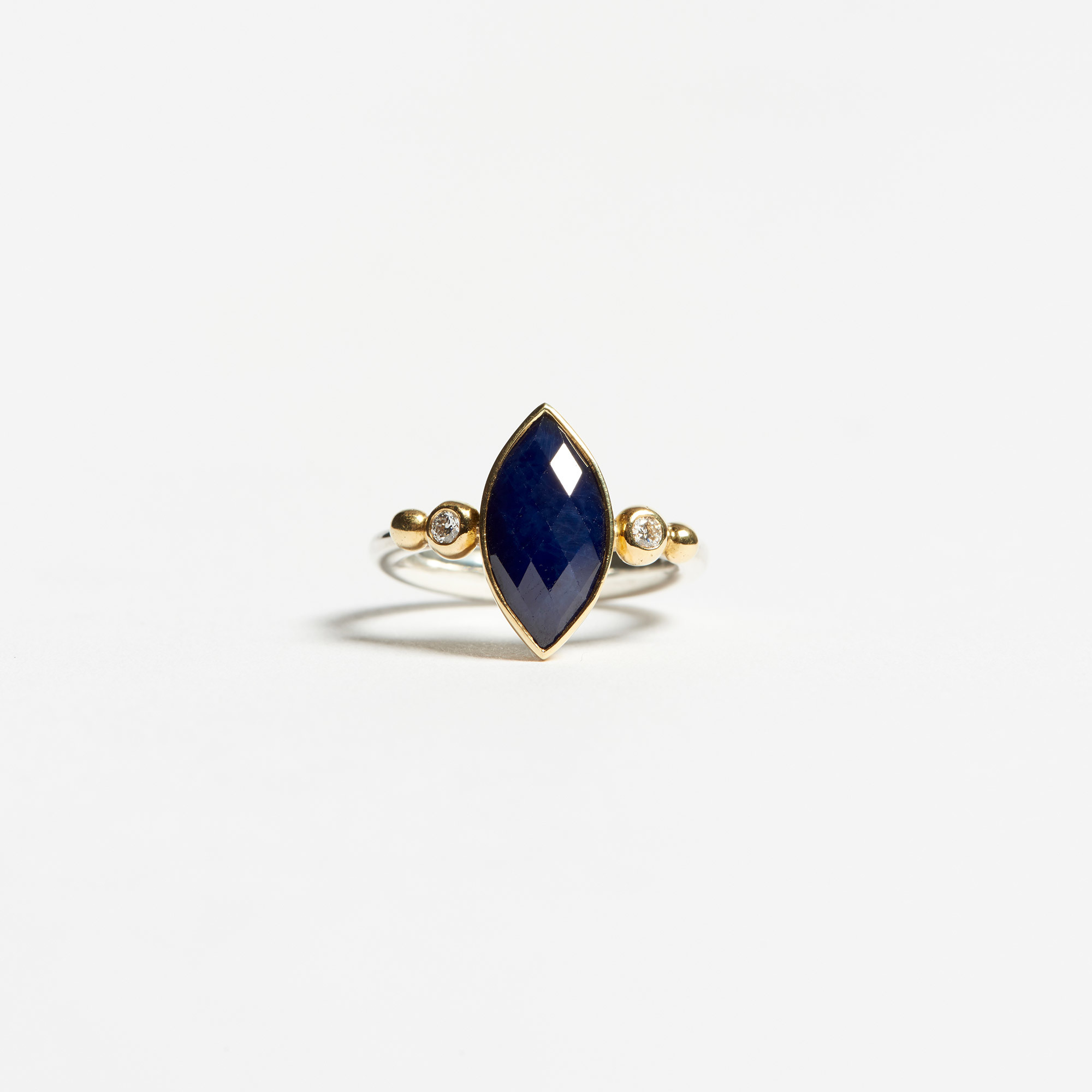 size blue ring ctw diamond sapphire gold l white squared marquise