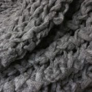 Large Twisted Rib Cloud Grey Throw - Gray Twisted Rib Adrienne Rogers Textiles The Garnered Styled 1