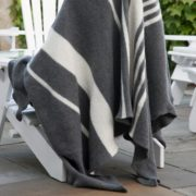 Large Muskoka Felted Grey and White Throw - Gray White Muskoka Felted Throw Adrienne Rogers Textiles The Garnered Styled 2