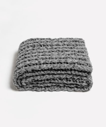 The Garnered - Gray Twisted Rib Adrienne Rogers Textiles The Garnered 004 Hi