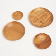 Set of 4 Hand-Turned British Hardwood Nesting Plates - Set Of 4 Bowls Alice Blogg Wood The Garnered 5