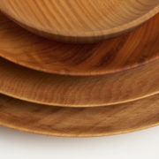 Set of 4 Hand-Turned British Hardwood Nesting Plates - Set Of 4 Bowls Alice Blogg Wood The Garnered 7