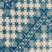 'Point de Hongrie' Fabric in Blue - Antoinette Poisson Fabric Point De Hongrie Bleu The Garnered