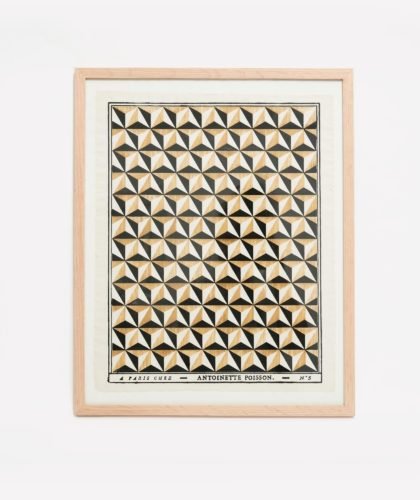 The Garnered - Revised Blackand Yellow Framed Domino