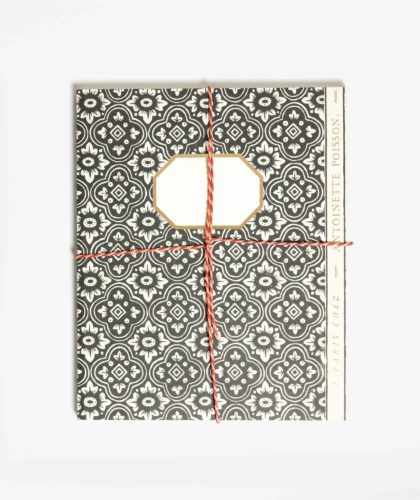 The Garnered - Large Black White Notebook Antoinette Poisson The Garnered 001