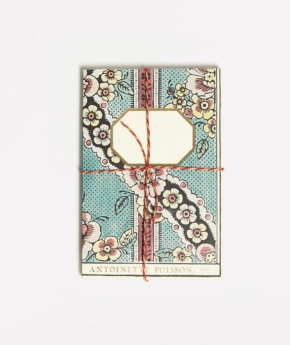 The Garnered - Small Notebook Turquoise Flower Antoinette Poisson The Garnered 001
