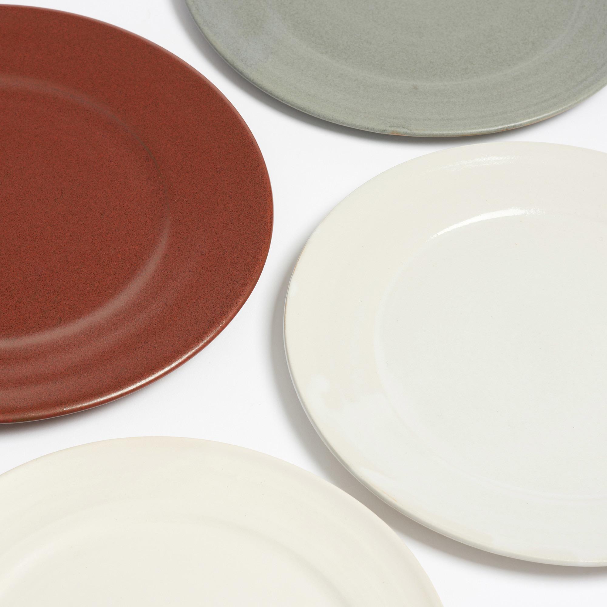 Arielle De Gasquet Off White Matte Glaze Dinner Plate The Garnered