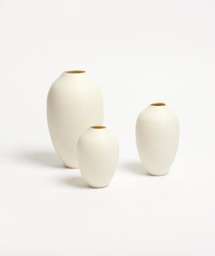 The Garnered - Cocoon Vase Set Of Three Ben Sutton Ceramics The Garnered 1