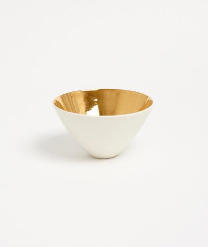 The Garnered - Porcelain Gold Bowl Ben Sutton Ceramics The Garnered 1