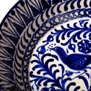 Hand-Painted Blue Ceramic Large Salad Bowl - Blue 32Cm Salad Bowl Casa Lopez Ceramics The Garnered Detail
