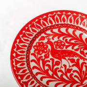 Hand-Painted Red Ceramic Dessert Plate - Red 20Cm Dessert Plate Casa Lopez Ceramics The Garnered Detail