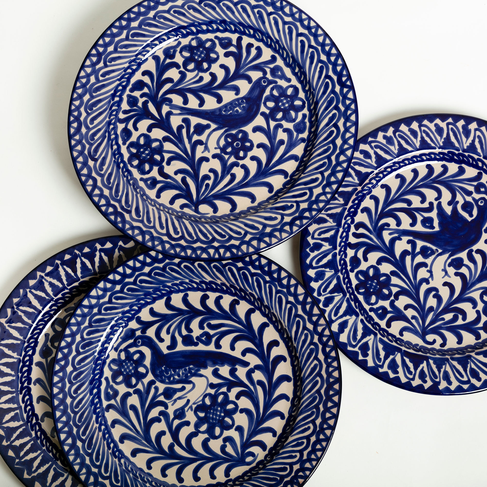 Casa Lopez Hand Painted Blue Ceramic Classic Plate The Garnered