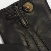 Honorine Black Leather Gloves - Causse Black Honorine Gloves The Garnered 32