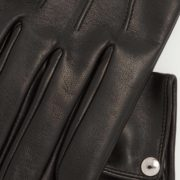 Men's Oscar Black Leather Gloves - Causse Black Oscar Gloves The Garnered 62