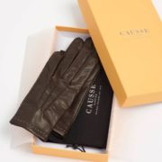 Men's Vendome Brown Leather Gloves - Causse Brown Vendome Gloves The Garnered 29