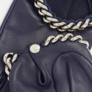 Ivanna Lambskin Gloves with Chain Trim - Causse Navy Ivanna Gloves The Garnered 36