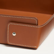 Large Tan Leather Vide Poche - Connolly Leather The Garnered 21