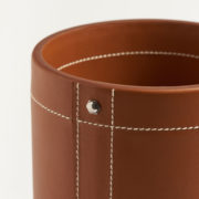 Small Tan Leather Pen Pot - Connolly Leather The Garnered 29