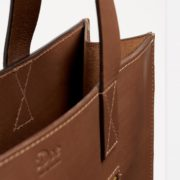 Brown Bridle Hide Leather Tote Bag - Tote Doe Leather The Garnered 34