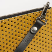Limited-Edition Vintage Leather Pochette - Vintage Pochette Perforated Doe Leather The Garnered Detail