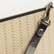 Limited-Edition Vintage Leather Pochette - Vintage Pochette Weave Doe Leather The Garnered Detail