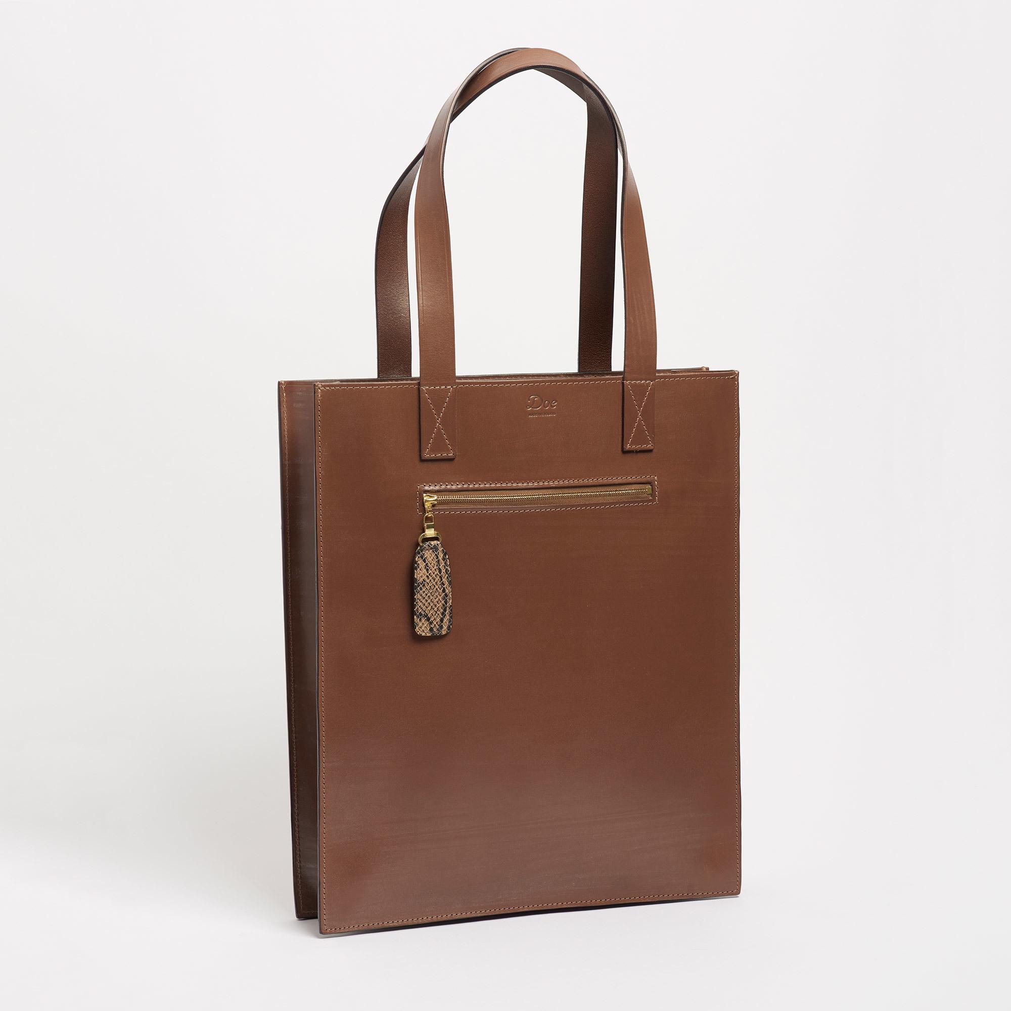 Bridle Hide Brown Leather Tote Bag