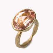 Handmade 18K Gold Rose Morganite Ring - Disa Allsopp Fine Handcrafted Jewelry 18 K Gold Morganite Ring The Garnered