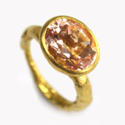 Handmade 18K Gold Rose Morganite Ring - Disa Allsopp Fine Handcrafted Jewelry 18 K Gold Rose Morganite Ring The Garnered
