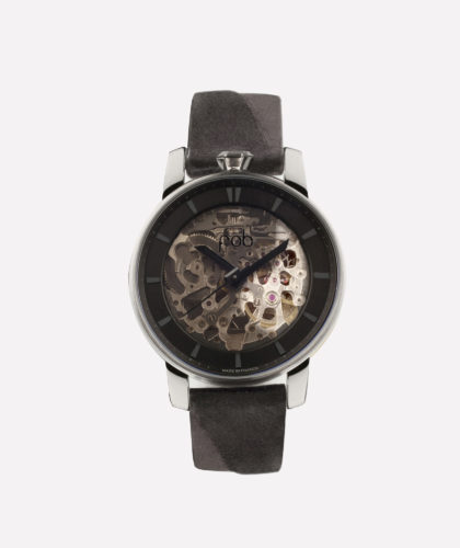 The Garnered - Fob Rehab 360 Silver Suede Fob Watches The Garnered 1