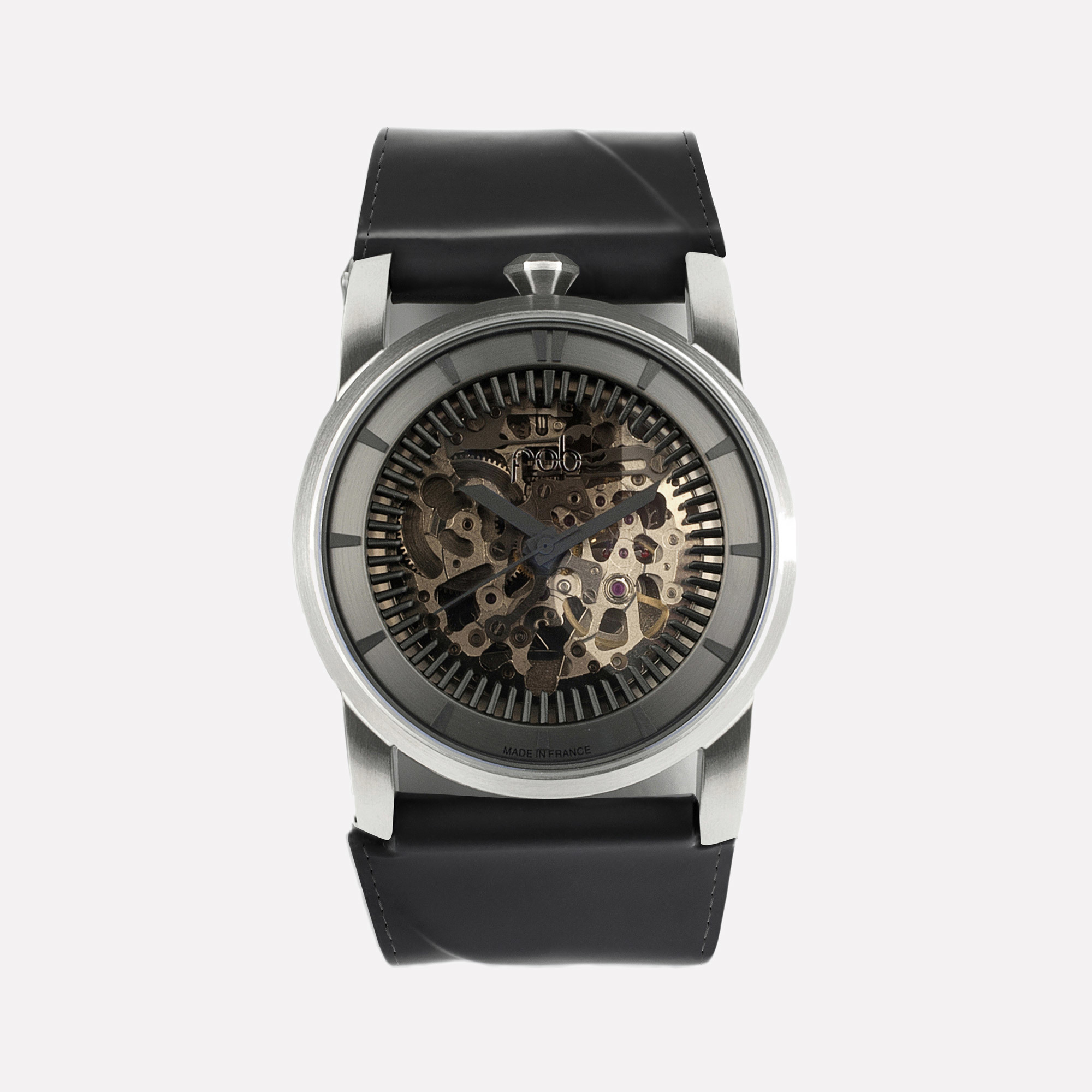 minimal watches leather silver strap pin black klarf klarfwatches