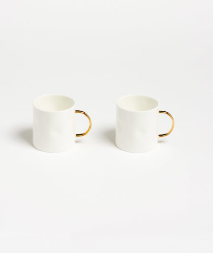 The Garnered - Gold Coffee Cup Feldspar Ceramics The Garnered 7