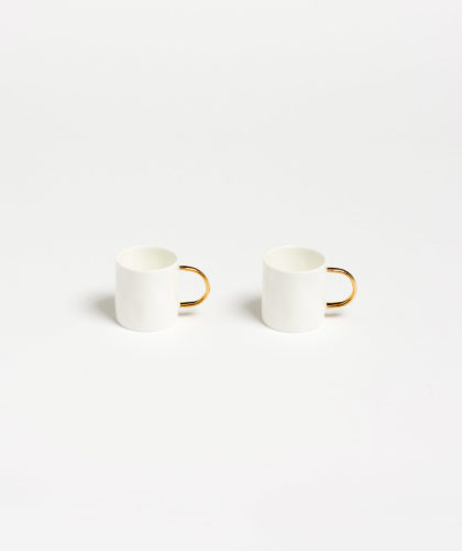 The Garnered - Gold Espresso Cup Feldspar Ceramics The Garnered 11