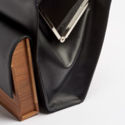 Aymeline Calfskin and Walnut Handbag - Aymeline Hugo Matha Bags The Garnered 45