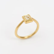 Handmade Gold Ring With Natural Uncut Octahedral Diamond - Jean Scott Moncrieff Gold Ring Octahedral Diamond The Garnered