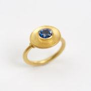 Handmade Gold Ring with Oval Brilliant-Cut Sapphire - Jean Scott Moncrieff Gold Ring Sapphire The Garnered